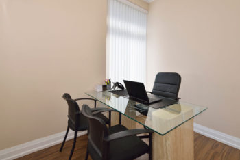 Office room with chairs for physiotherapy clients