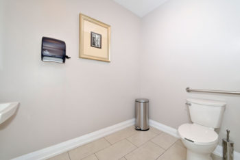 Washroom inside of the physiotherapy clinic