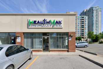 Front entrance to the Healthmax Physiotherapy Clinic